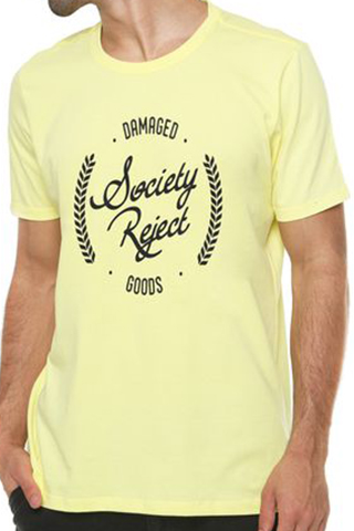 camiseta-rgx-damaged-goods-society-reject-amarela